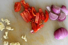 Garlic, Shallots and Tomatos