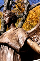 Bronze (The Andrea) Tags: november autumn fall me cemetery virginia phil angles statues richmond hollywoodcemetery jeffm mikeb surroundbylight