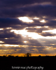 sunset rays (Bonnie Mac Photography (hope_2day)) Tags: autumn light sunset color colour beauty clouds lights nikon country rays ih nikond200