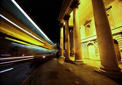 Don't Bank On It (Dave G Kelly) Tags: street longexposure ireland dublin motion blur bus car night canon evening noche traffic nacht tripod irland noite 5d canon5d notte dublino irlanda irlande bankofireland dublinbus dublín sigma2470 irlandia davegkelly