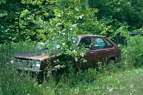 Playing with art effects - abandoned Chevette