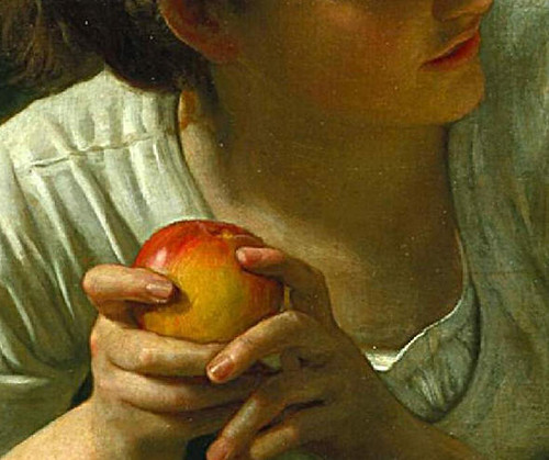 Temptation Detail Apple (by Portrait Artist - Enzie<br />Shahmiri)