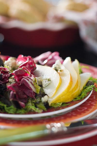Radicchio and romaine salad 1