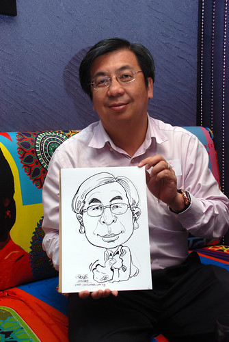 Caricature live sketching for Dow Jones 5