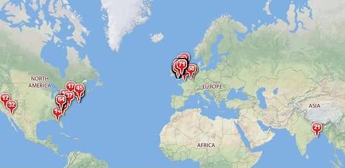 My Twittermap: World