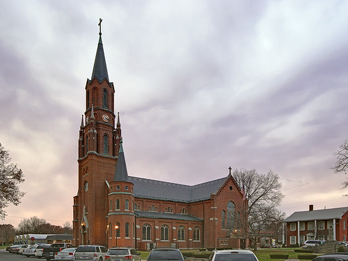 Saint Mary Roman Catholic Church, in Carlyle, Illinois, USA - exterior side