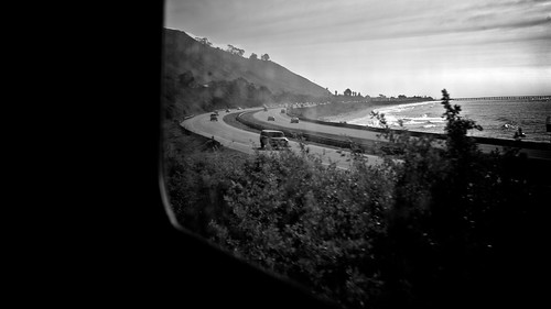 Pacific Coast Highway From Amtrak Surfliner Window