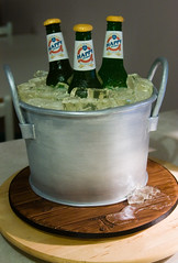 Dad's Birthday Cake (Rouvelee's Creations) Tags: ice beer cake bucket bottle candy hard