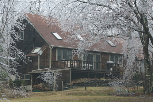 House after ice storm