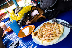Value for money roti prata at Malaysia. (Y-Shumin) Tags: money bike bicycle cuisine for cycling nikon singapore long indian muslim curry malaysia value distance cheap 18200 touring roti prata d40 ringit sgima