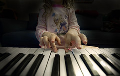 giant keys tiny fingers (spapax) Tags: playing kid piano