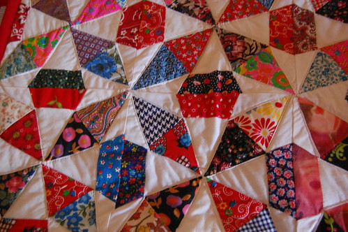 New Quilt finished from vintage blocks