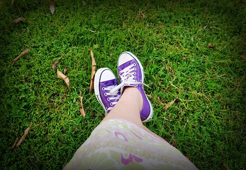 I converse with my shoes.