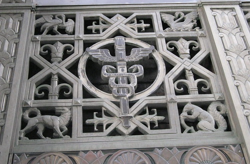 Carved Grille: Animals And Caduceus