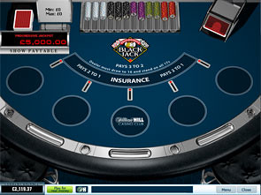 Progressive Blackjack Single Player game