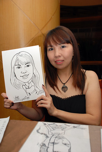 Caricature live sketching Misumi SouthEast Asia D&D 2