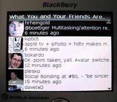 twitterberry friends timeline