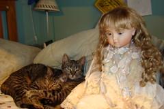 Living Doll with Santa Claws and Lola (portugita_norton) Tags: doll lola santaclaws livingdoll