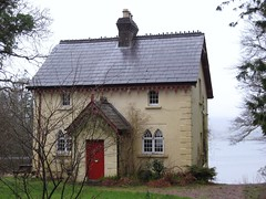 Rain-drenched Donegal cottage - Gate lodge to Lough Eske Castle  # 97 Explore (MarsW) Tags: ireland lake town victorian reddoor explore stunning quaint donegal donegaltown lougheske thelifeinwhite castlegatelodge