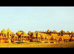 The royal shade (Shweta Wadhwa) Tags: travel india heritage monument architecture jaisalmer rajasthan cenotaphs supershot abigfave superbmasterpiece badabadh