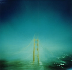 golden gate bridge (nicolai_g) Tags: color film blurry moo goldengatebridge spacetime