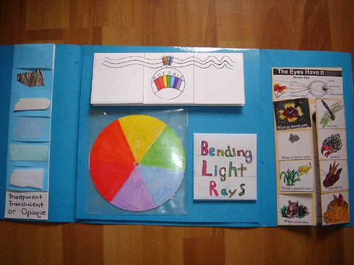 light and color lapbook open