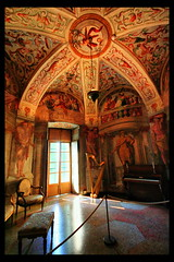 The Music Chamber (! .  Angela Lobefaro . !) Tags: windows italy music castle art history classic window lamp statue chair bravo warm king arte fenster kunst details ghost piano picture royal atmosphere quadro historic finestra piemonte carni
