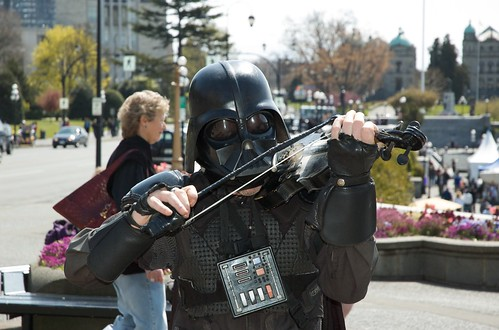 Victoria BC Canada - Inner Harbour - Darth Vader Busker