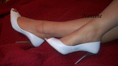 White leather peep toe 2