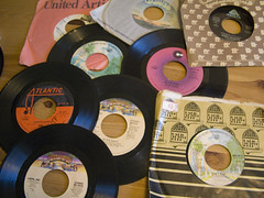 70s singles! (QsySue) Tags: records mail vinyl 70s lovelovelove 45s package singles kindnessofstrangers vintl
