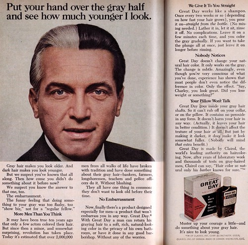 Great Day hair dye ad, Reader's Digest 1967