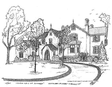 Limited Edition Print of President Lincoln' Cottage.