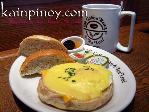 Eggs Ben Breakfast set at Coffee Bean and Tea Leaf
