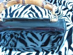 Empress Vintage Purse (JoulesVintage) Tags: vintage handle bamboo purse empress blackpatent