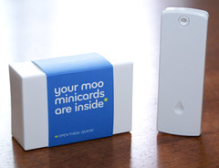 your moo minicards are inside