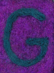 Alphabet ATC or ACEO Available - Needlefelted Letter G