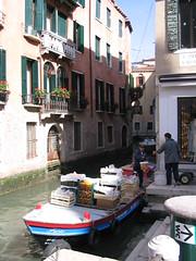 Cargo Boat in Venice