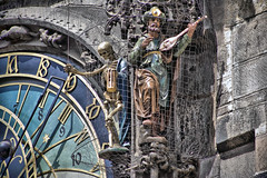 prague astronomical clock in detail