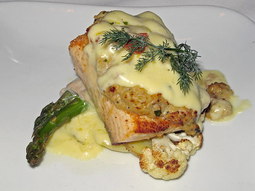 Oyster-Crusted  Atlantic Salmon