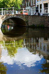 reflections in delft (VickyvdL) Tags: holland netherlands canal delft reflecfion