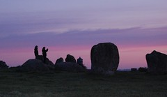 Long Meg at 4 am summer solstice