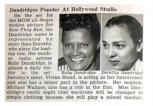 Dorothy Dandridge and Mother Popular at Studio - Jet Magazine, Sept 4, 1952 by vieilles_annonces.