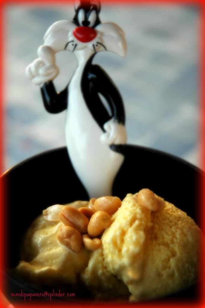 Gelato al burro di noccioline