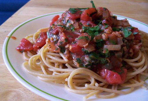 Pasta with Spicy Red Clam Sauce