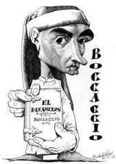 BOCCACCIO, Giovanni (Morales de los Ros) Tags: writers caricaturas philosophers caricatures escritores filsofos