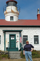 Katie at the Battery Point Lighthouse