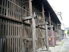 材木屋の景色。