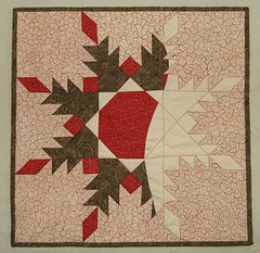 Feathered Star Art Quilt