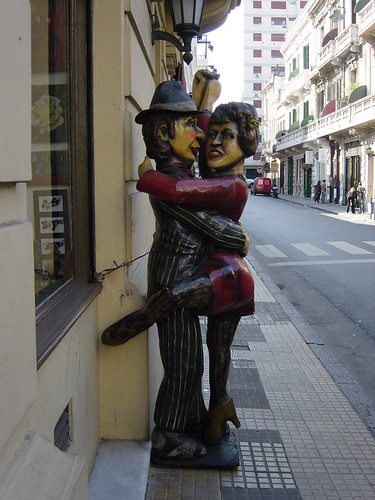 Statue of Tango Dancers in San Telmo, Buenos Aires, Argentina