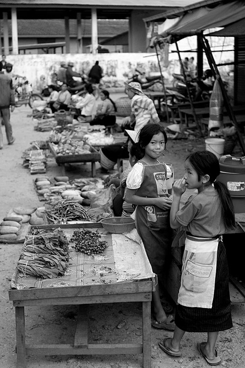 At Phonsavan's evening market, Laos